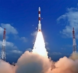 Indian PSLV rocket launch.