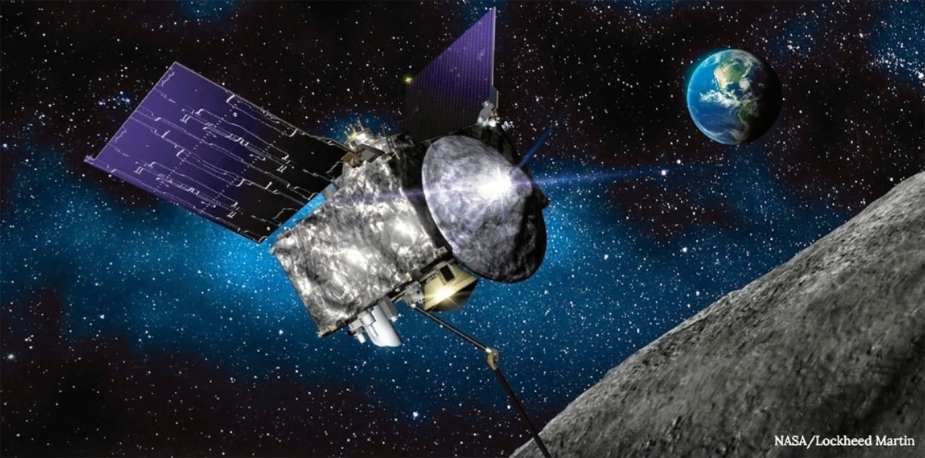 Osiris-Rex Spacecraft. Credit: NASA/Lockheed Martin.