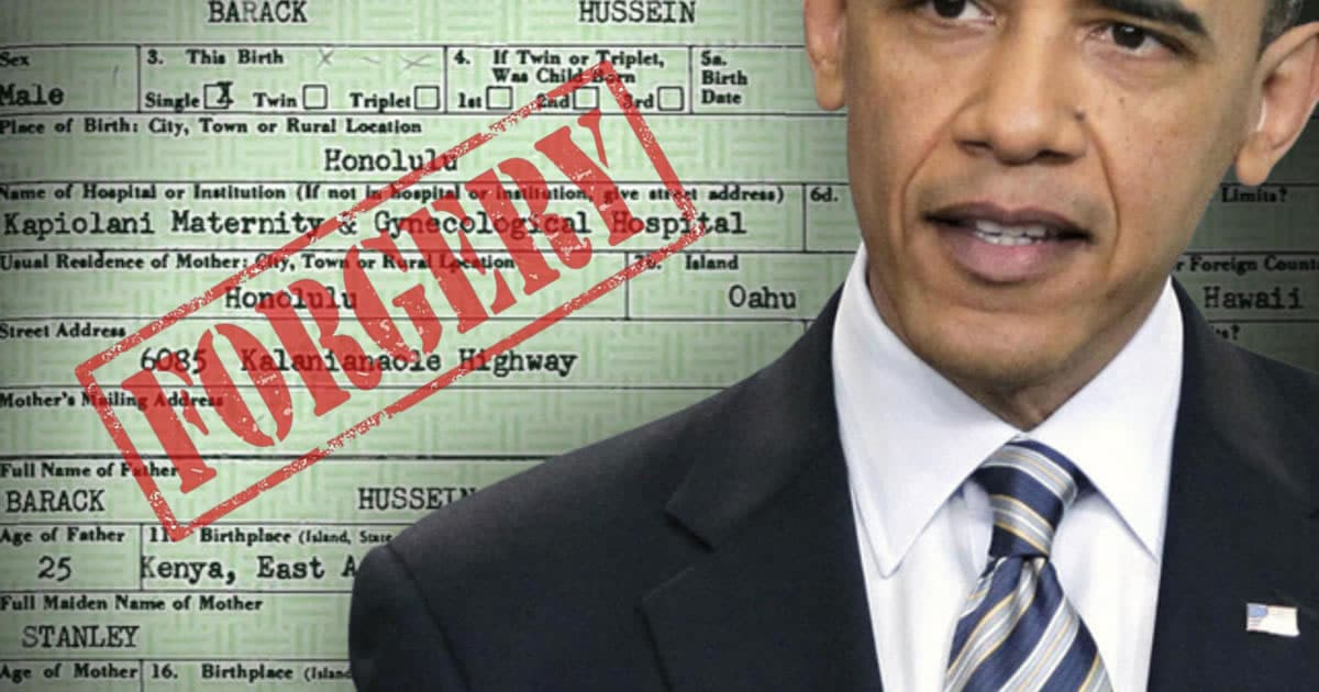 Should Obama Be Forgiven For This Forgery The Birth Certificate