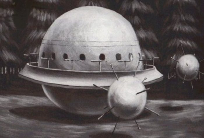 Sketch of the craft witnessed by Robert Taylor
