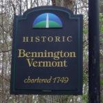 Bennington, Vermont welcome sign.