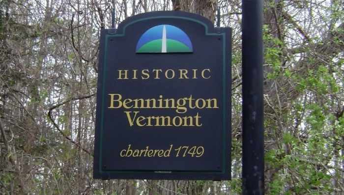 Bennington, Vermont welcome sign.