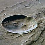 Impact crater on Mars. Credit: G. Neukum/ESA,DLR, FU Berlin