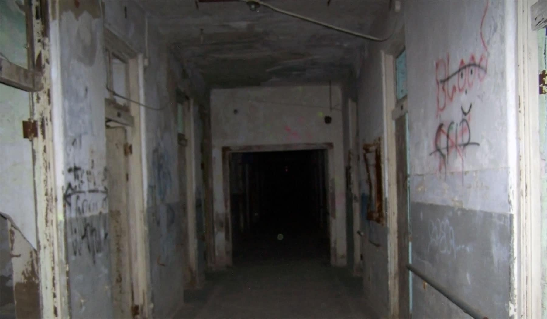 Inside a derelict sanatorium.