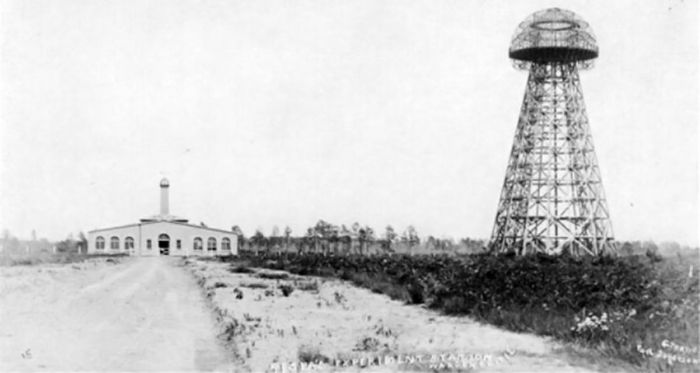 An original photograph of Wardenclyffe Tower.