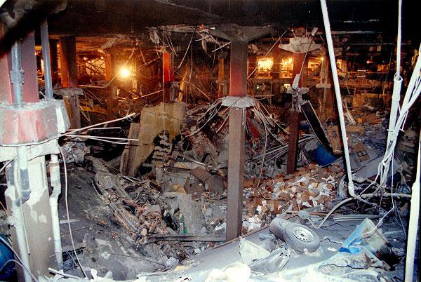 The WTC truck bomb blast hole.