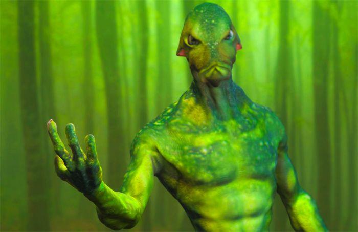 Green alien.