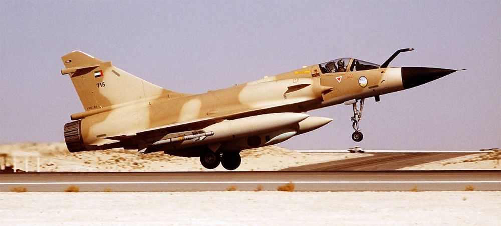 A Dassault Mirage fighter jet - the type of military aircraft that was scrambled.