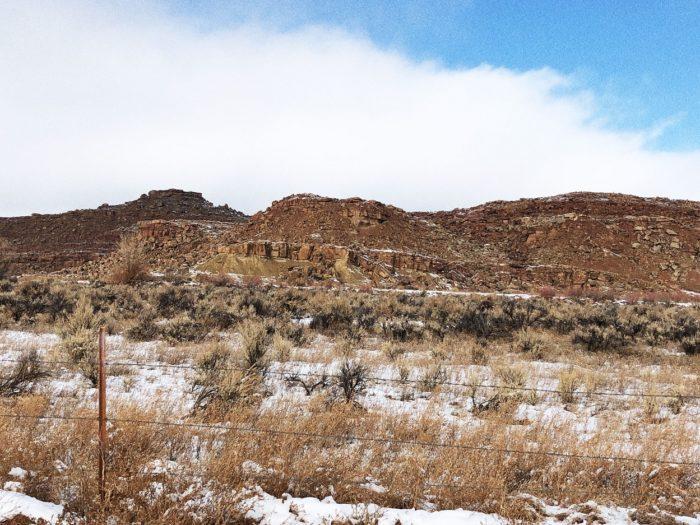 The mountains around Skinwalker Ranch