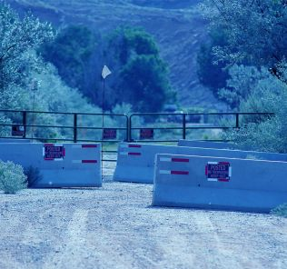 The entrance to Skinwalker Ranch.