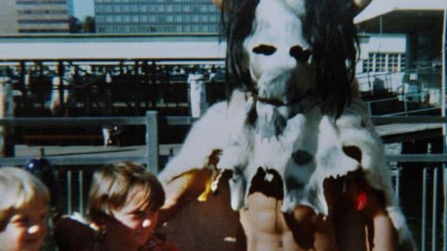 A strange chilling figure captured in a photograph at a children's ride