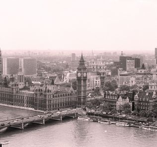London skyline in the 1950s.