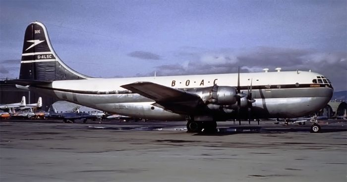 Boeing Stratocruiser, G-ALSC - the actual aircraft involved in the incident.
