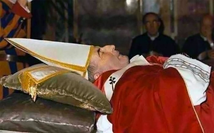 John Paul I (deceased) laying in rest