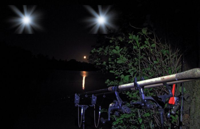 Artist's impression of the lights seen while night fishing.