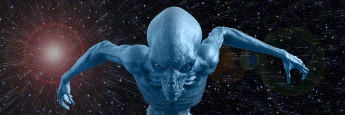 A depiction of an alien entity