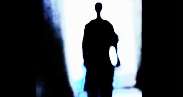 A depiction of a shadow person