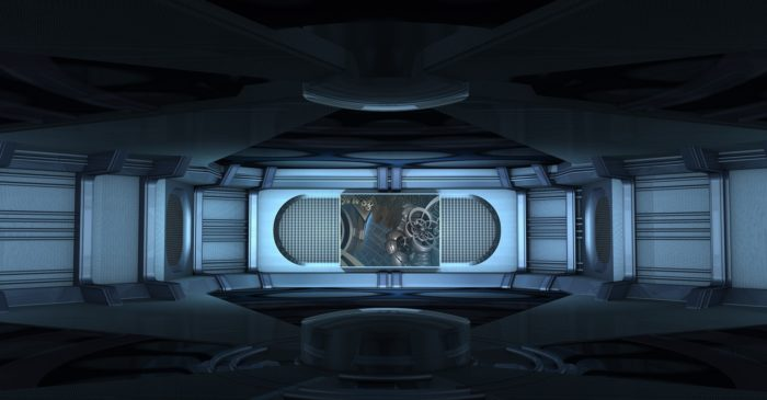 Depiction of the inside of a UFO