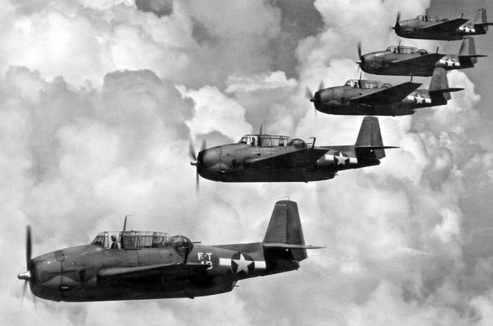 The aircraft of Flight 19 (5 Grumman TBM Avenger torpedo bombers).