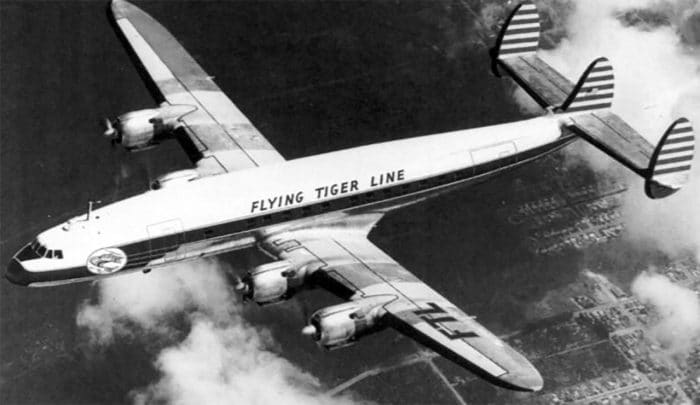 Flying Tiger Line Lockheed L-1049 Super Constellation.