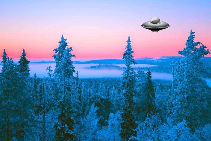 Round UFO in Finland.