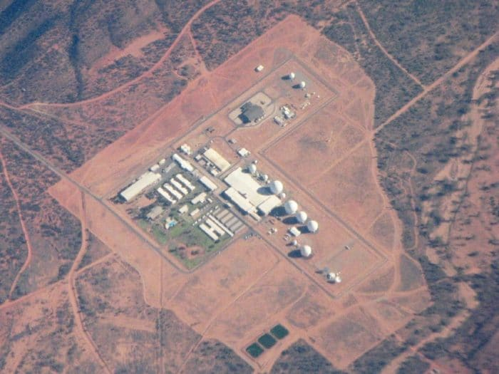 Aerial view of Pine Gap