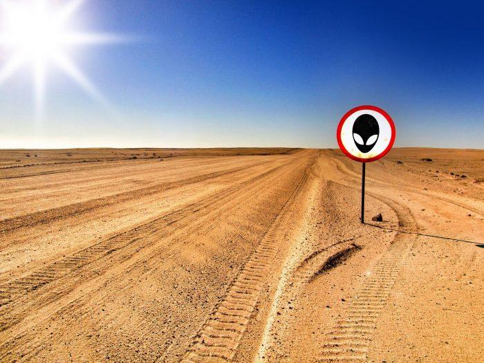 An alien sign in the desert