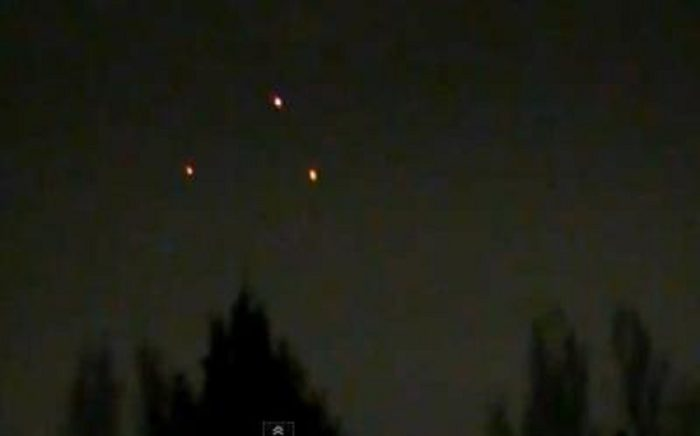 A picture of a typical triangular UFO