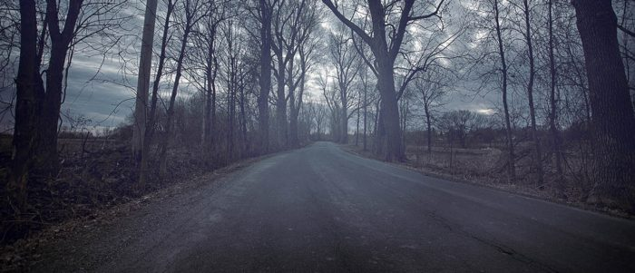 How a typical spooky road might look