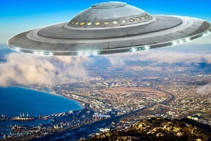 A superimposed UFO off the South African coast