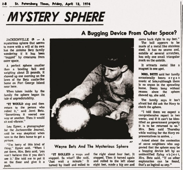 Betz Sphere Newspaper April 1974