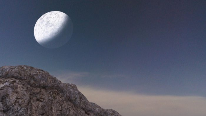 A picture of the moon over the Tujunga Canyon
