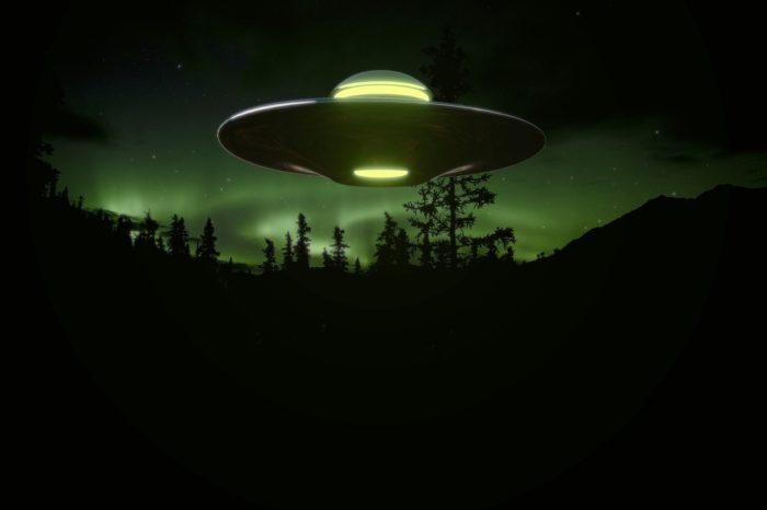 An artist's perception of a UFO