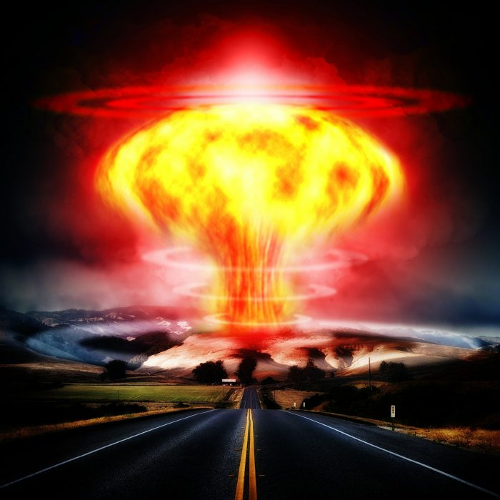 Artist's impression of an atomic bomb
