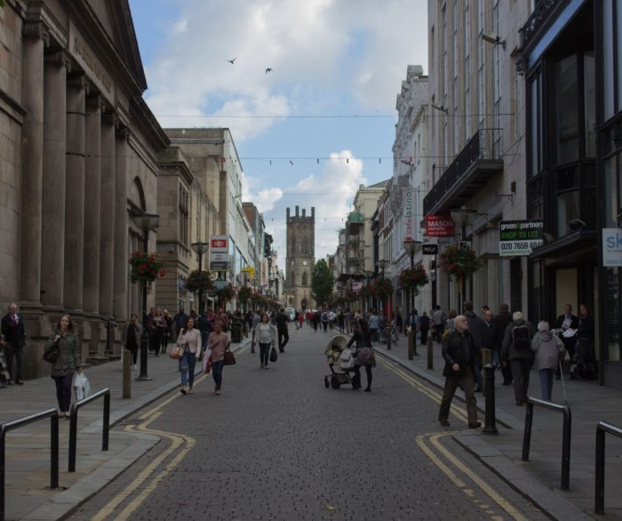Bold Street in Liverpool