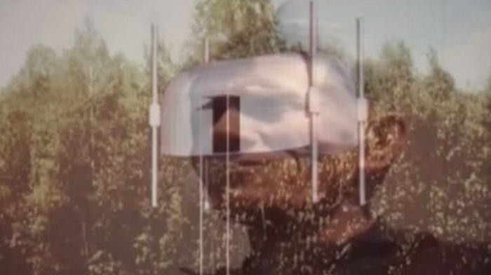 Jan Wolski with a picture of the UFO location blended underneath