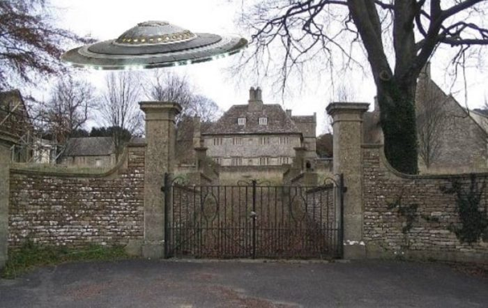 Superimposed UFO over Rudloe Manor