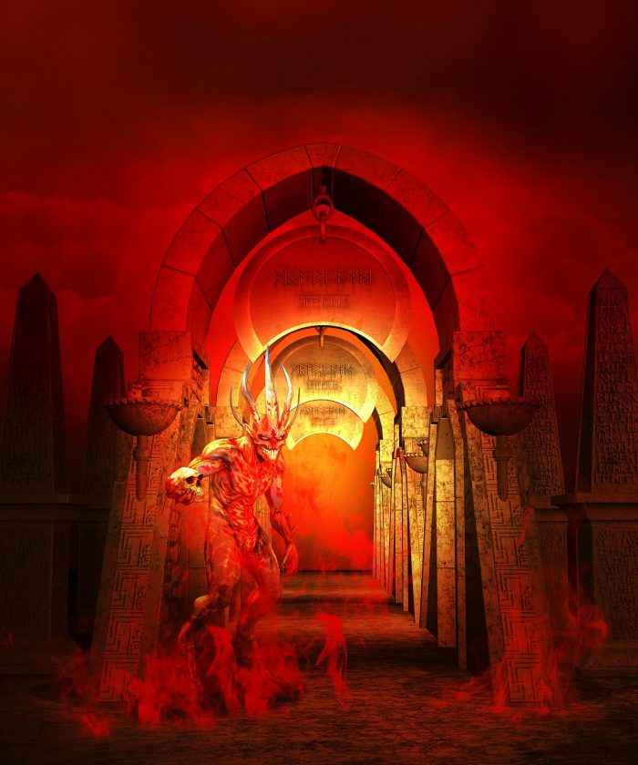 A depiction of Hell and The Devil