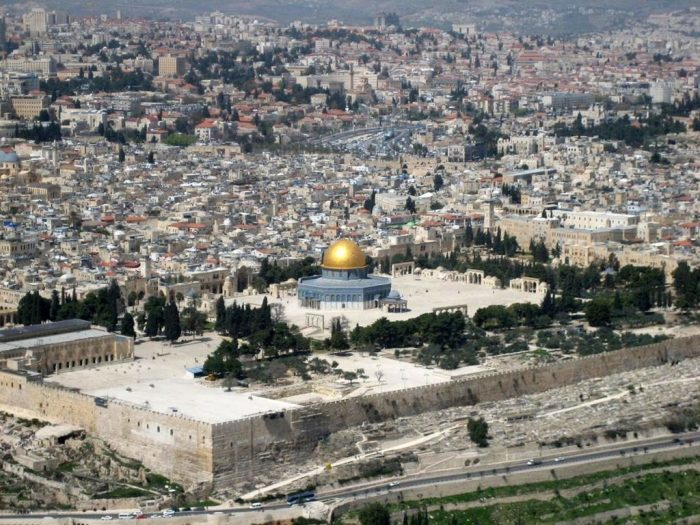 Aerial shot of Temple Mount
