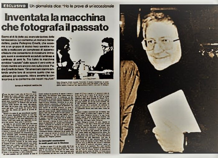 An alleged report of the Chronovisor in a 1972 newspaper article