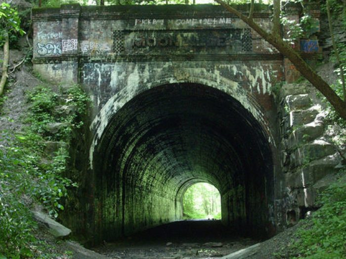 Close-up of Moonville Tunnel