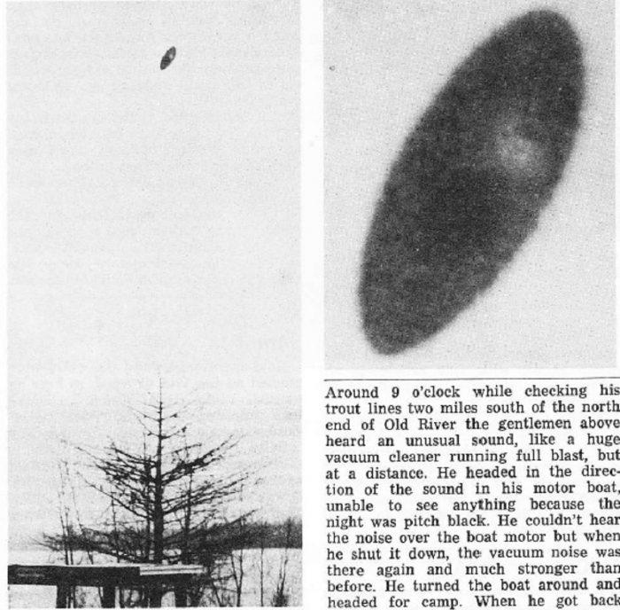 A newspaper article of the 1967 Louisiana UFO