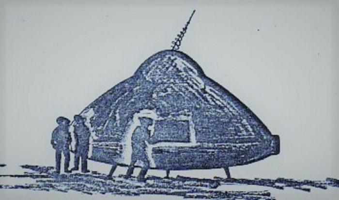 Isla De Lobos UFO Sketch