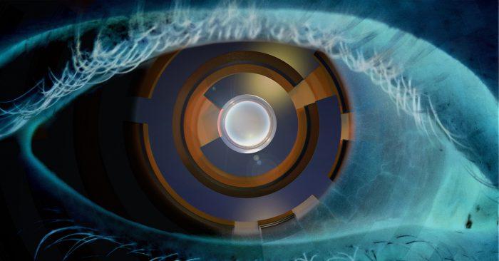 A close up of a human eye as a camera