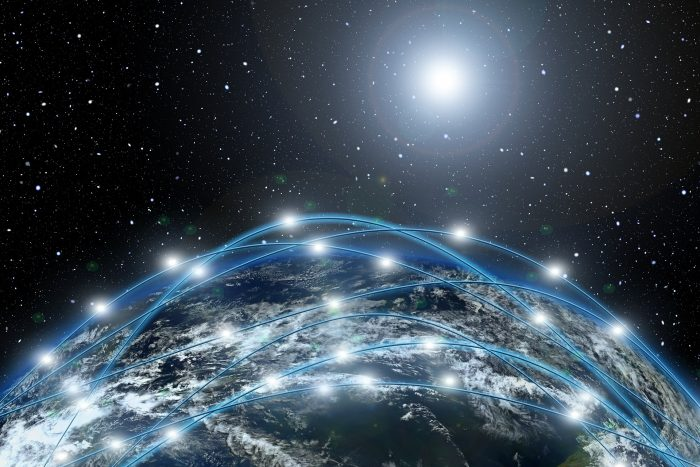 A picture of a Network Simulation around the Earth