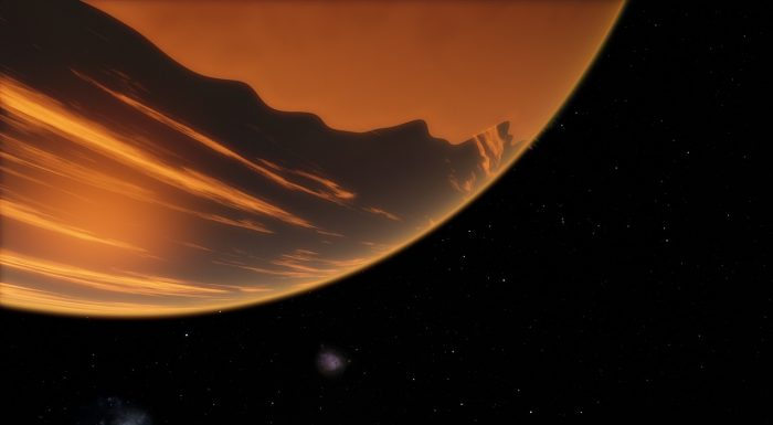 Artist's impression of a large unknown planet