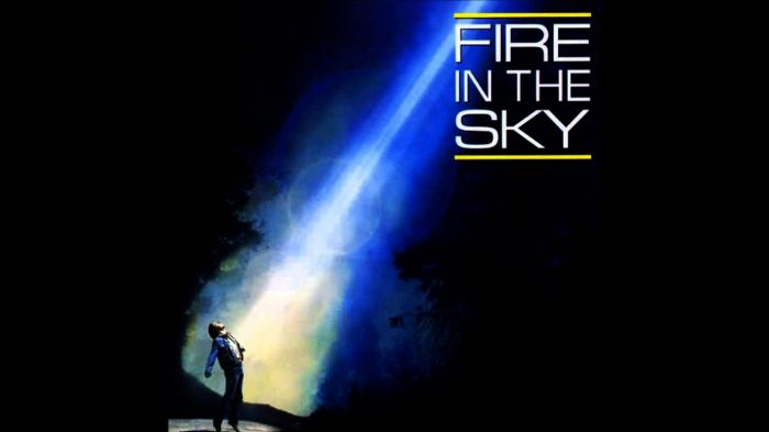 Promotional poster from the film Fire In The Sky