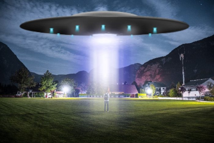 UFO Beam Of Light