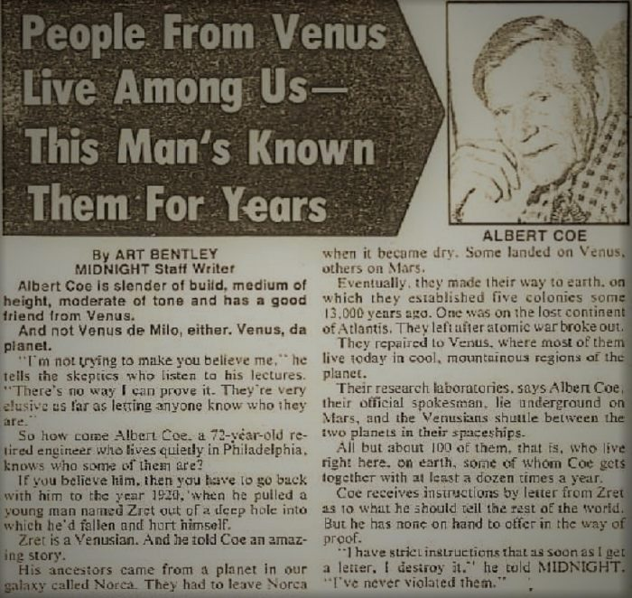 Venus Newspaper Clipping