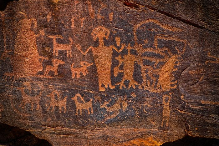 Cave art that appears to show aliens